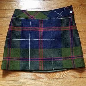 J Crew wool mini skirt Size 4